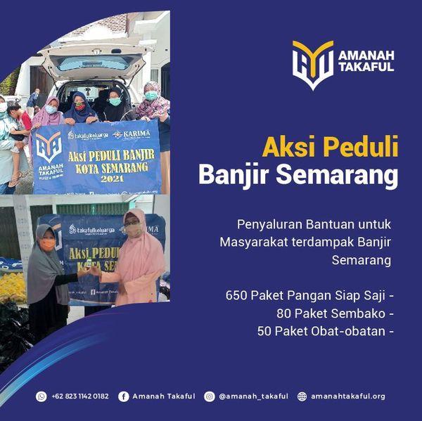 Bantuan untuk penyintas banjir Semarang