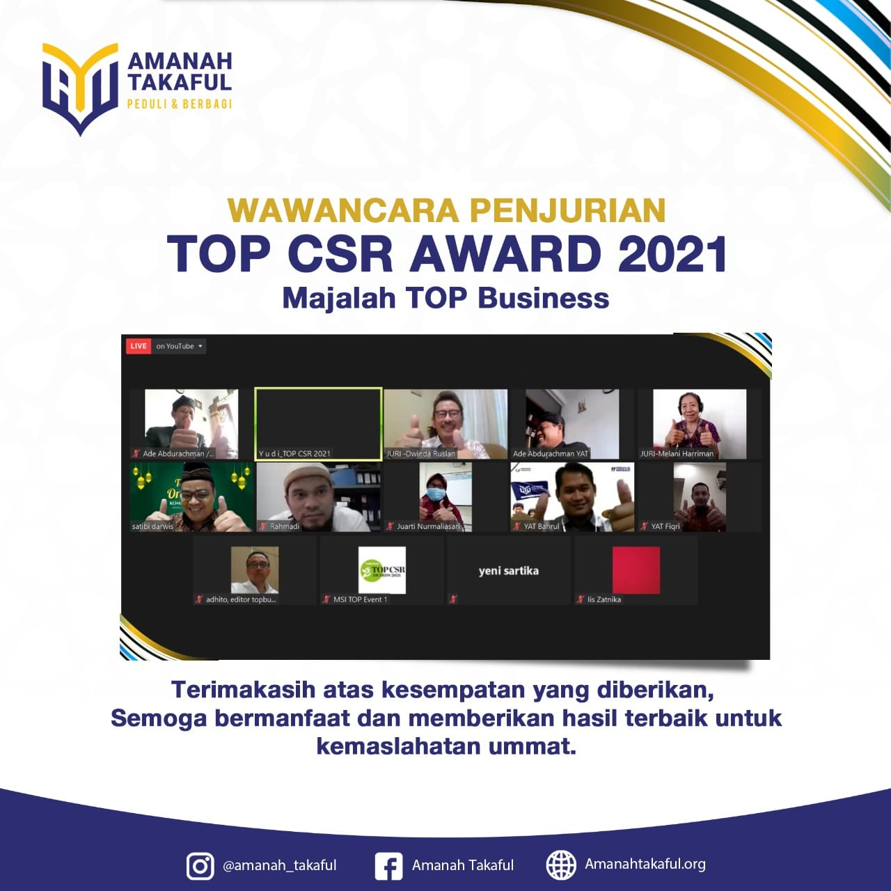 Penjurian TOP CSR Award 2021