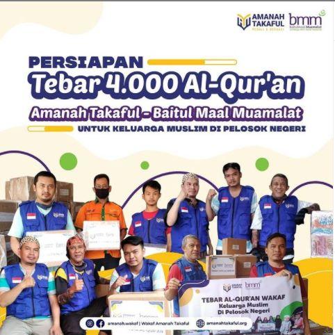 Amanah Takaful & Baitul Maal Muamalat Sinergi Salurkan Al-Qur'an Wakaf ke Pelosok Negeri